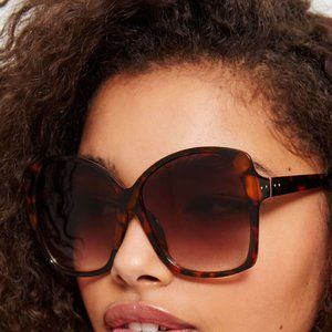 Brown Oversized Square Sunglasses